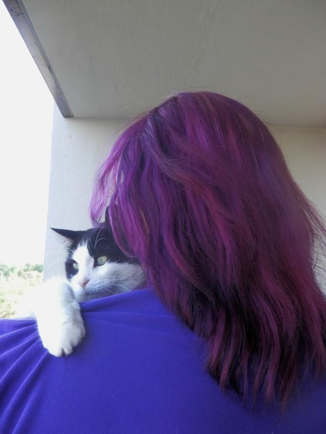 Jeremy's purple hair