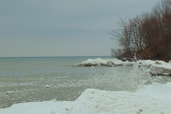 "We finally ended up at Lake Ontario, which Jeremy calls ""the ocean""."