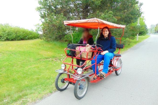 Friend and Jeremy on the quad bike1