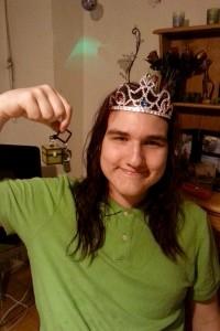 Jeremy and zir Minecraft keychain