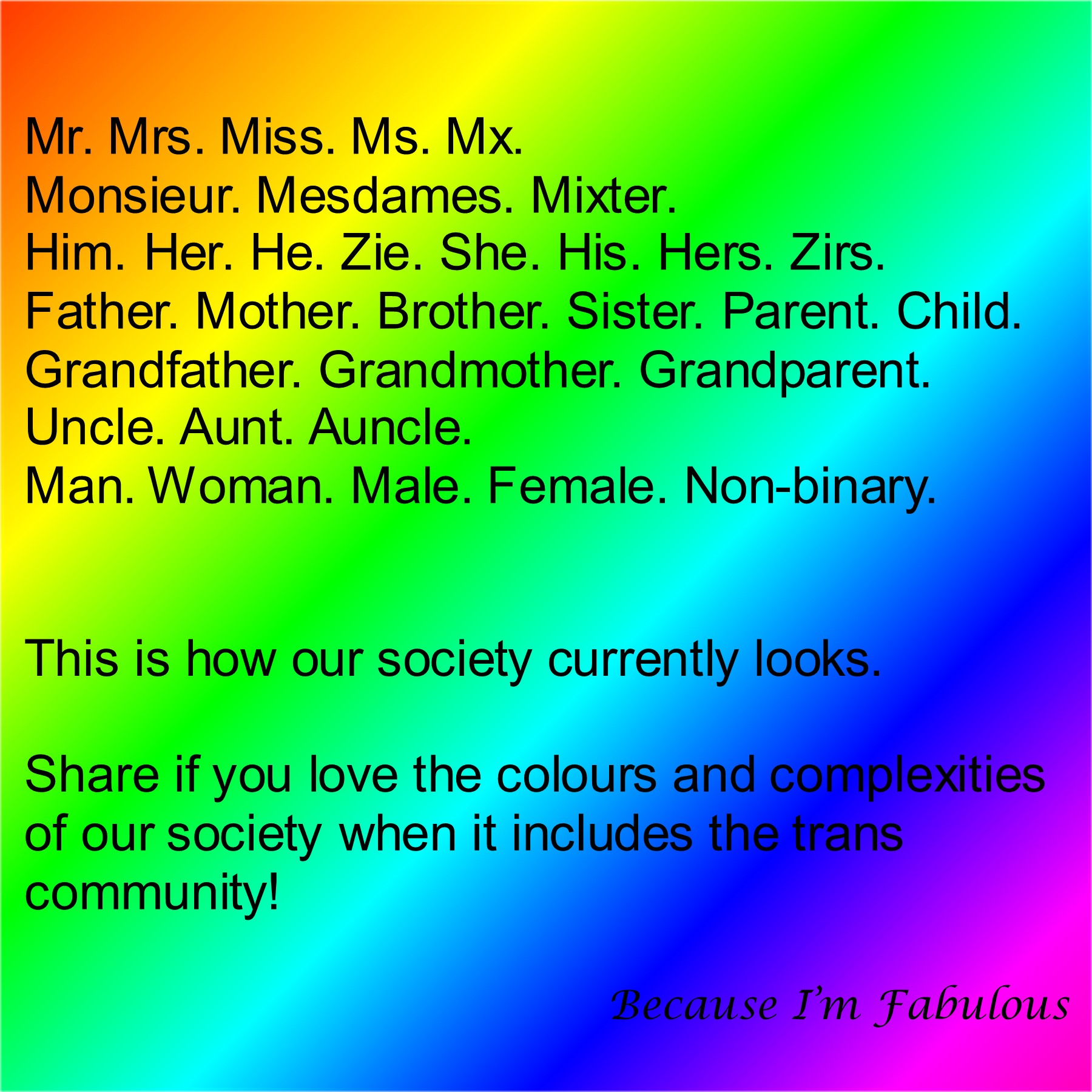 genders and pronouns