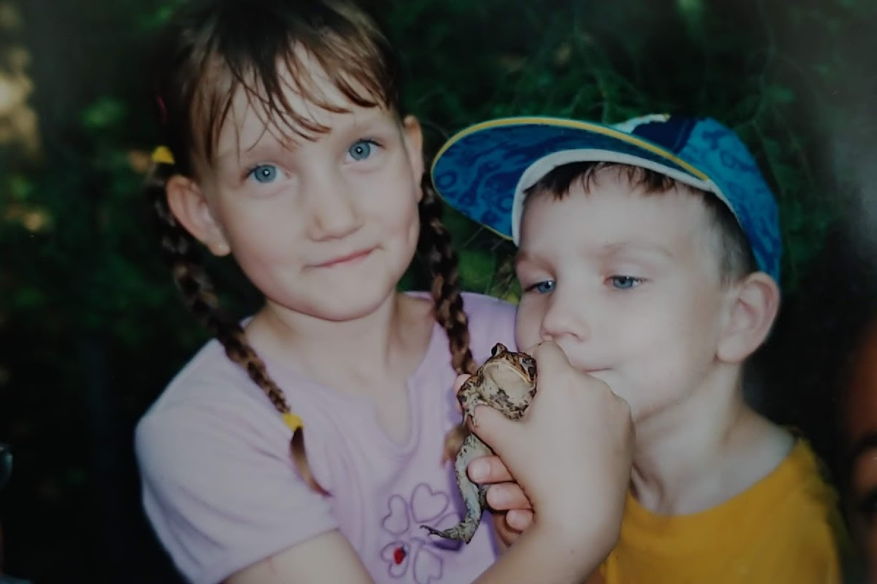 Kait, Colin, and frog