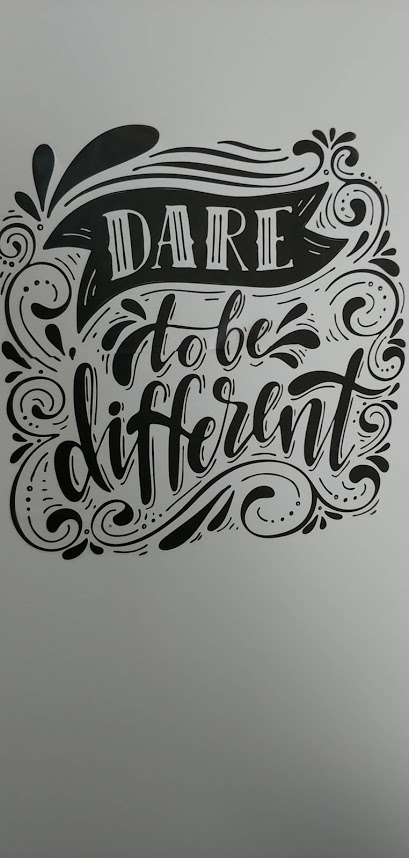 dare to be different wall sticker