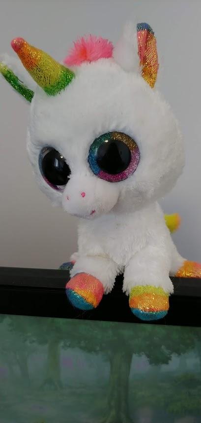 rainbow unicorn on my monitor