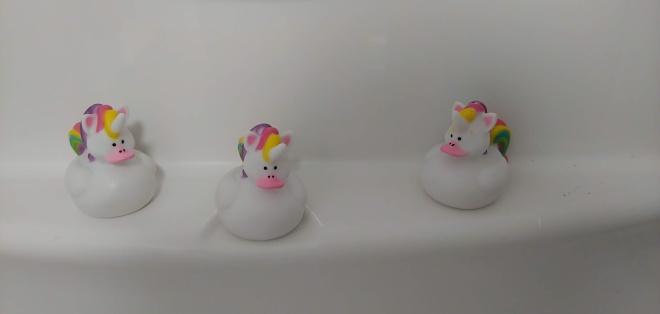 rainbow unicorns in my shower