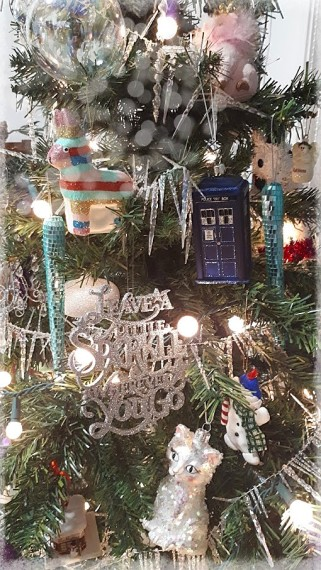 tardis ornament bokeh